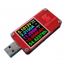 YZXstudio ZY1271 Colour TFT Dual USB Power Monitor QC 3.0 Dual Type C Micro USB Capacity Tester