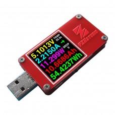 YZXstudio ZY1271 Colour TFT Dual USB Power Monitor QC 3.0 Dual Type C Micro USB Capacity Tester