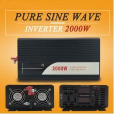 Pure Sine Wave Power Inverter 2000W (Peak4000W) DC 12V/24V/48V to AC 120V/220V