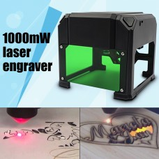 1000mW Mini USB Laser Engraver Mark Printer Cutter Carver Engraving Machine US Plug