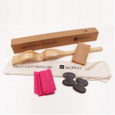Wooden Ballet Foot Stretch Stretcher Arch Enhancer Elastic Band Dance Gymnastics