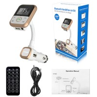 Bluetooth Car Kit FM Transmitter MP3 Player Handsfree Wireless Radio Adapter USB Charger