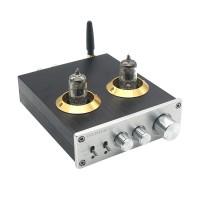 PJ.MIAOLAI M8 HiFi Power Digital Amplifier Bluetooth 6J1 Electron Tube Silver