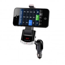 Smart Phone Holder Car Charger Kit Bluetooth Handsfree FM Transmitter LCD Display BT8118