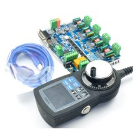 CNC MACH3 4 Axis Motion Controller USB8727T4+ NVMPG-3D CNC Manual Pulse Generator MPG