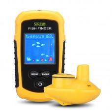 Lucky 100m Alarm Sonar 40M/130FT Depth Ocean Wireless Fish Fishing Finder