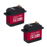 2PCS LewanSoul LD-20MG Metal Gear Standard Digital Servo with 20kg High Torque for Robot RC Car