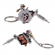 Portable Mini Tattoo Machine Tattoo Supply Gun Keychain Necklace Pendant Decor L