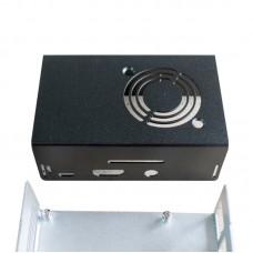 Black Tinker Board Aluminum Alloy Case for Raspberry Pi 3/3B/2/B+