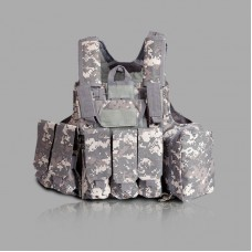 Tactical Vest Molle Combat Assault Plate Carrier Vest Tactical & Duty Gear -ACU