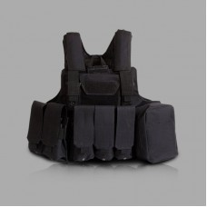 Tactical Vest Molle Combat Assault Plate Carrier Vest Tactical & Duty Gear -Black
