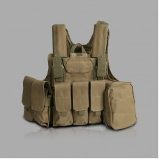Tactical Vest Molle Combat Assault Plate Carrier Vest Tactical & Duty Gear