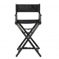 Portable Makeup Artist Director's Chair Folding Chair Aluminum Frame Black