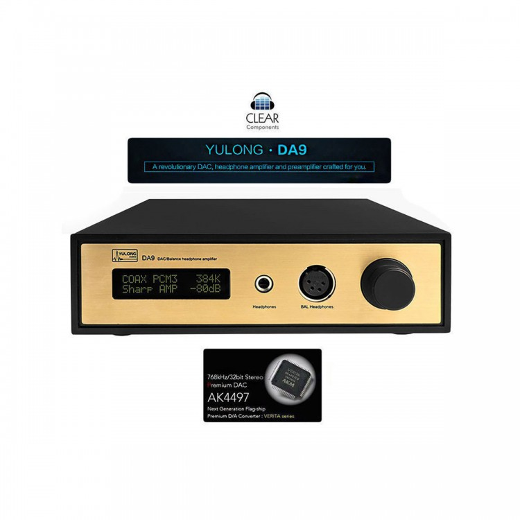 YULONG DA9 DAC Balance Headphone Amplifier AK4497 DSD DAC 384kHz