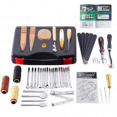 Leather Craft Hand Tools Kit Portable Sewing Stitching Stamping Saddle Making