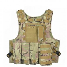 Camouflage Hunting Military Tactical Vest Waistcoat Combat Assault Plate Carrier Vest