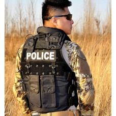 Military Men POLICE SWAT Tactical Vest Jacket CS/Hunting Paintballs Outerwear