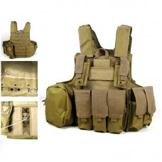 Heavy Duty Airsoft MOLLE Combat Tactical Vest with AMMO POUCH