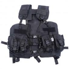 Black US Navy Seal Modular Load Swat Assault Tactical Vest