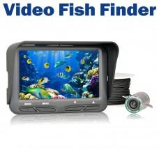 "720P Underwater Ice Video Fishing Camera 4.3"" LCD Monitor Night Vision Camera 30m Visual Fish Finder"