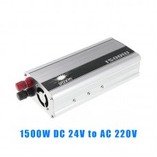 1500W DC to AC Power Inverter Charger Converter DC 24V to AC 220V Vehicle Power Supply