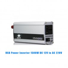 USB 1500W DC 12V to AC 220V Car Power Inverter Charger Converter Adapter Modified Sine Wave