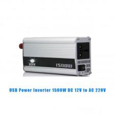 USB 1500W DC 12V to AC 220V Car Power Inverter Charger Converter Adapter Modified Sine Wave