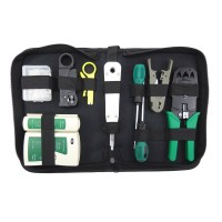 Network Portfolio Toolkit 10PCS Install Repair Combination Tools Knife Network Cable Clamp Tester Wire Cutter