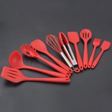 10 Piece Kitchen Utensils Set Silica Gel Cooking Kitchenware Cooking Tools