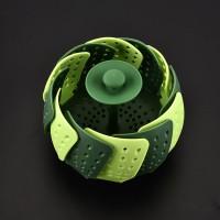 Retractable Folding Lotus Steamer Bowl Filter Basket Water Drain Basin Plastic Fruit Plate