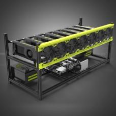 Veddha V3D 8 GPU Delux Mining Rig Aluminum Stackable Case Open Air Frame ETH ZEC