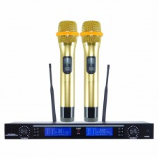 Wireless Microphone Professional UHF PPL Karaoke KTV UHF PPL Transmitter Receiver for Outdoor Stage Event