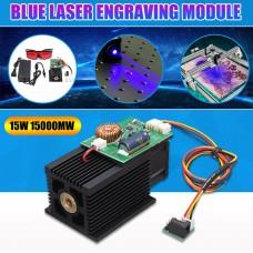 15000mw 445-450nm Blue Laser Engraving Module DIY Carving Module