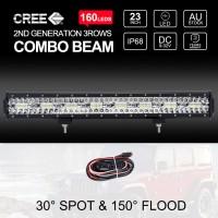 "23"" CREE LED Light Bar 3Rows SPOT FLOOD 4x4 Driving Work Fog Lamp 1600W"