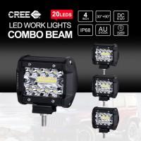 4 Inch CREE LED Work Light Bars SPOT FLOOD Off Road 4x4 Driving Fog Lamp 4x 200W