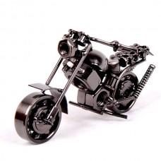 Motorcycle Model Retro Motor Figurine Iron Motorbike Prop Handmade Boy Gift Kid Toy Decor
