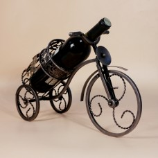 Retro Vine Art Tricycle Wine Rack European-style Iron Wine Holder Frame Home Furnishing Articles