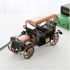 Handmade Retro Vintage Car Model Iron Ornaments Diecast Metal Model Room Desktop Home Gifts Decorations