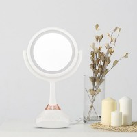 LED Light Music Mirror USB Bluetooth Makeup Mirror 5X Magnifying True Image Listen Favored Tunes
