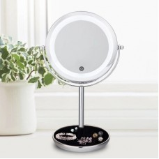 "5X LED Lights Makeup Mirror Desktop Double Side Mirror Magnification 7"" Bathroom Cosmetic Mirror"