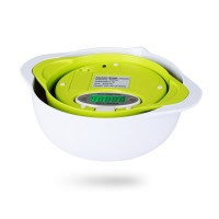 5KG/1g Digital Scales Food Kitchen Scale Electronic Diet Balance Weight Tool with 2 Trays