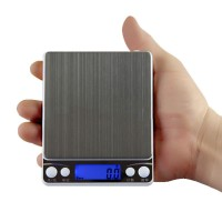 500g/0.01g LED Digital Scale Sterling Jewelry Scale Pocket Electronic Weighting Scales with 2 Trays