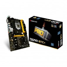 TB250-BTC+ Mining Motherboard Intel B250 Chipset Support 8 PCI-e Slots with 8 Cards