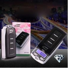 100g/200g Car Key Style Electronic Jewelry Pocket Scale Gram Balance Pocket Gram Weighting
