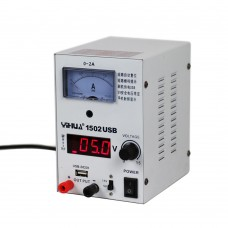 1502 USB DC 15V 2A Linear Mode Power Supply 240V for Mobile Phone Repair