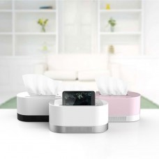 Wireless Tissue Box Bluetooth Speaker Stereo Music Micro SD Card USB for Phone