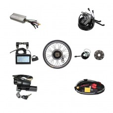 Powerful Brushless Gearless Hub Motor 48V 1000W Rear Wheel Electric Bike DIY Conversion Kits with LCD3 Display