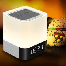 Touchable Lamp LED Clock Speaker with Wireless USB Alarm Clock Speaker MX-08