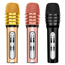 Wired W11 Microphone KTV Singing Karaoke Microphone with Earphone for Phone Sing Chat