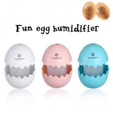 DC 5V 1.5W Egg Humidifier USB Egg Ultrasonic Humidifier Portable LED Light